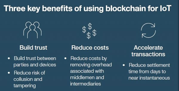 key benefits - blockchain for IoT